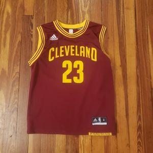 Lebron James Cleveland Cavaliers #23 Adidas Maroon